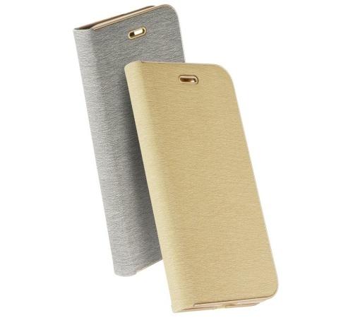 Flipové pouzdro Forcell Luna Book pro Samsung Galaxy A72, zlatá