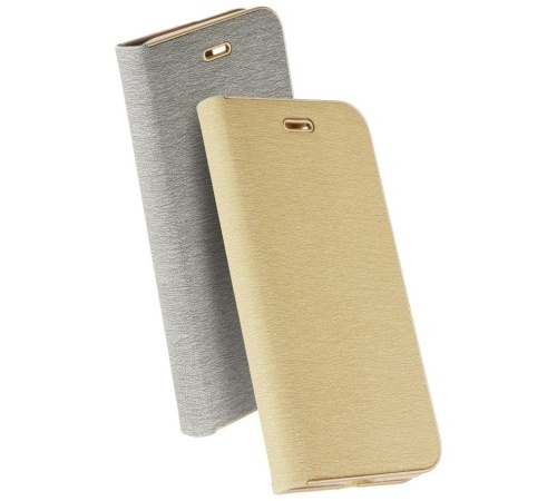 Flipové pouzdro Forcell Luna Book pro Samsung Galaxy A72, stříbrná