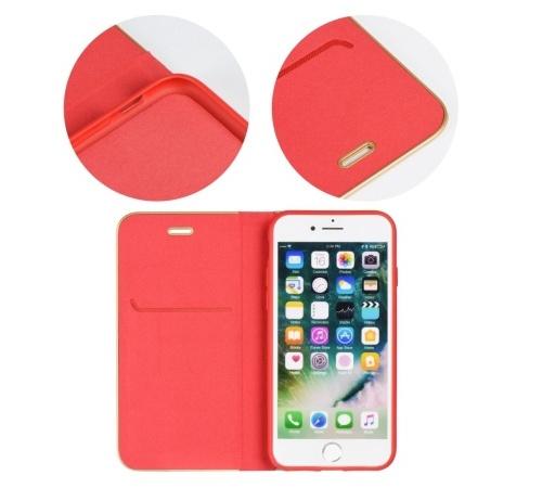 Flipové pouzdro Forcell Luna Book pro Samsung Galaxy A72, červená