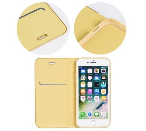 Flipové pouzdro Forcell Luna Book pro Samsung Galaxy A12, zlatá