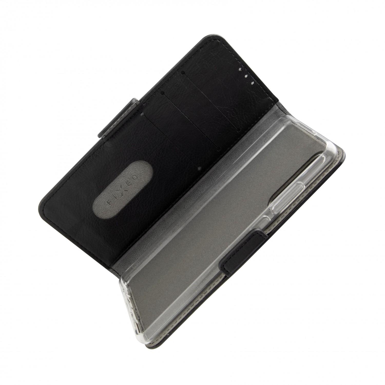 Pouzdro typu kniha FIXED Opus New Edition pro Samsung Galaxy M12, černé