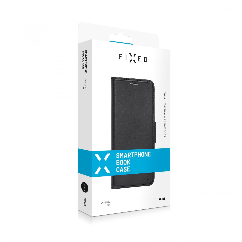 Pouzdro typu kniha FIXED Opus New Edition pro Xiaomi Redmi Note 9 4G, černé