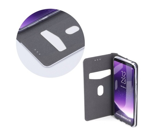 Flipové pouzdro Forcell Luna Book Silver pro Samsung Galaxy A32 5G, červená