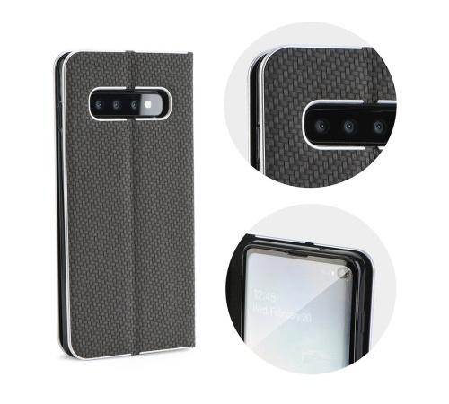Flipové pouzdro Forcell Luna Carbon pro Xiaomi Redmi 9C, černá
