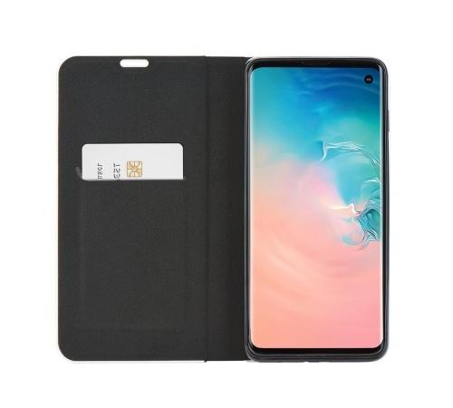 Flipové pouzdro Forcell Luna Carbon pro Samsung Galaxy A12, černá
