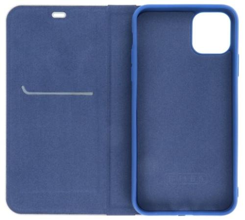 Flipové pouzdro Forcell Luna Carbon pro Samsung Galaxy A42 5G, modrá