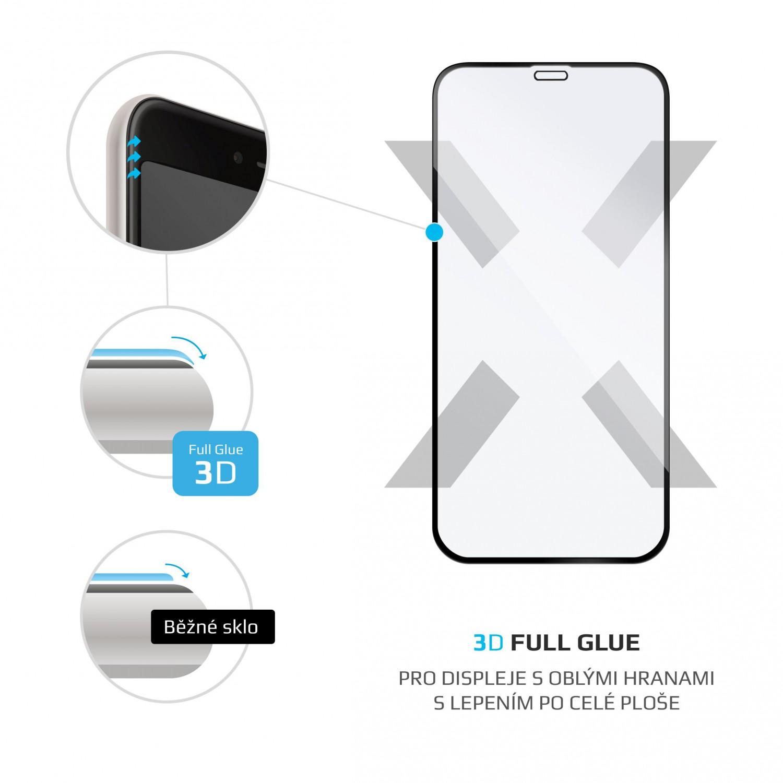 Ochranné tvrzené sklo FIXED 3D Full-Cover pro Apple iPhone 12 mini, s lepením přes celý displej, černé