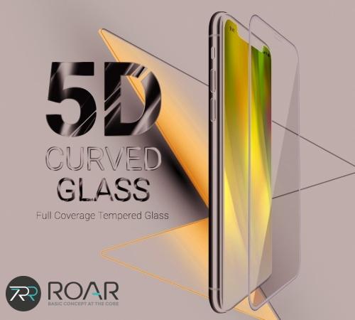 Tvrzené sklo Roar 5D pro Samsung Galaxy S21 Ultra (SM-G998) celoplošné s dírou, plné lepení, černá