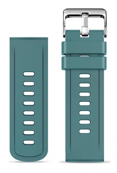 Silikonový řemínek ALIGATOR 22mm, zelená