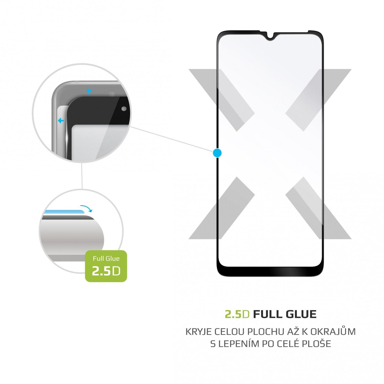 Ochranné tvrzené sklo FIXED Full-Cover pro Motorola Moto G10/G30, lepení přes celý displej, černé