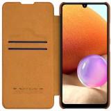 Nillkin Qin Book flipové pouzdro pro Samsung Galaxy A32 4G, hnědá