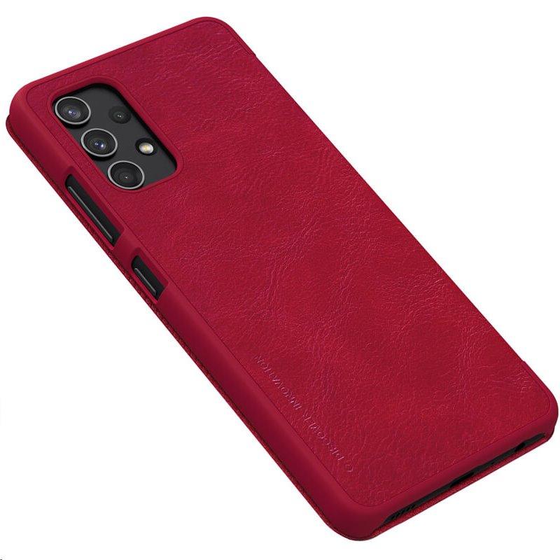 Nillkin Qin Book flipové pouzdro pro Samsung Galaxy A32 4G, červená