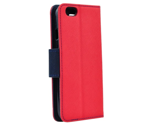Pouzdro kniha Fancy pro Xiaomi Redmi Note 9T, červeno-modrá (BULK)