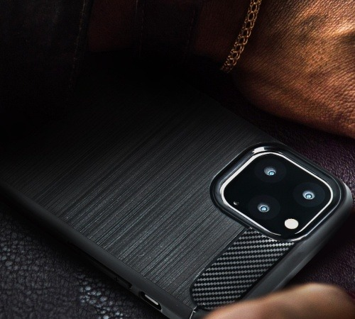 Ochranný kryt Forcell CARBON pro Samsung Galaxy A12, černá
