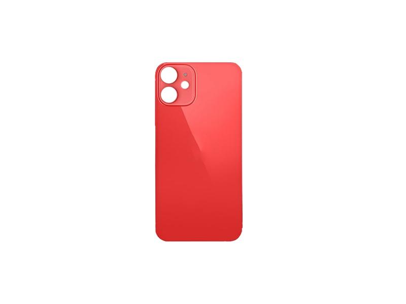 Kryt baterie Back Cover Glass + Big Camera Hole pro Apple iPhone 12, červená