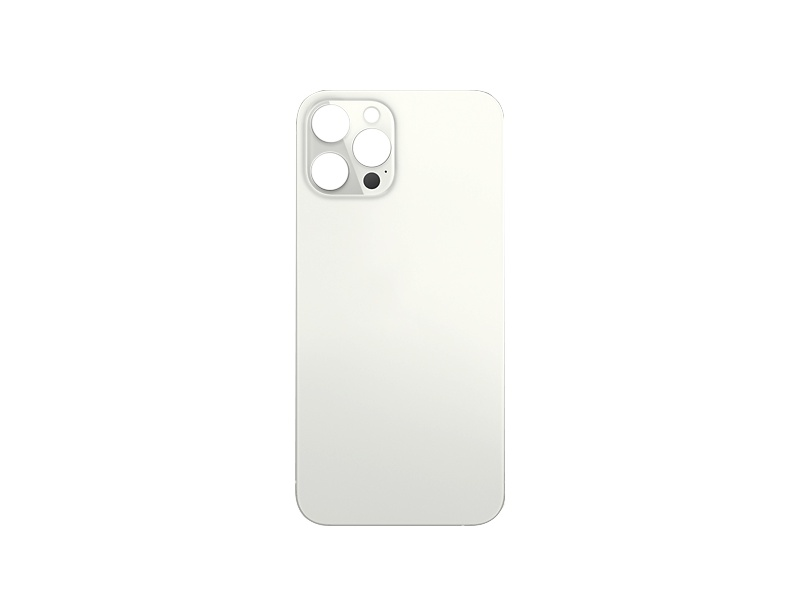 Kryt baterie Back Cover Glass + Big Camera Hole Pro Max Apple iPhone 12 Pro Max, silver