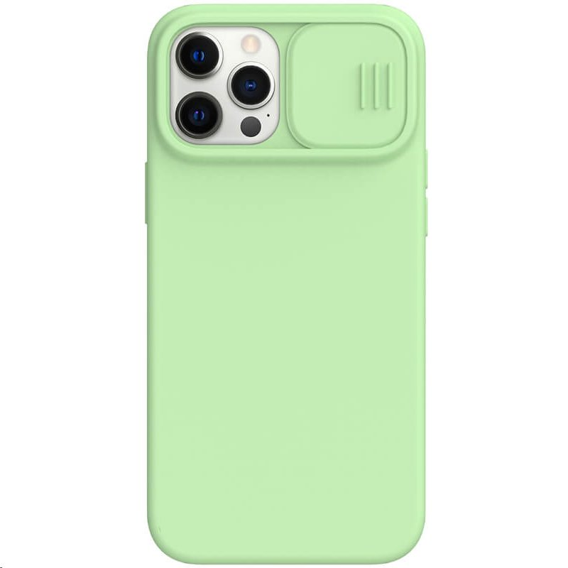 Silikonový kryt Nillkin CamShield Silky pro Apple iPhone 12 Pro Max, zelená