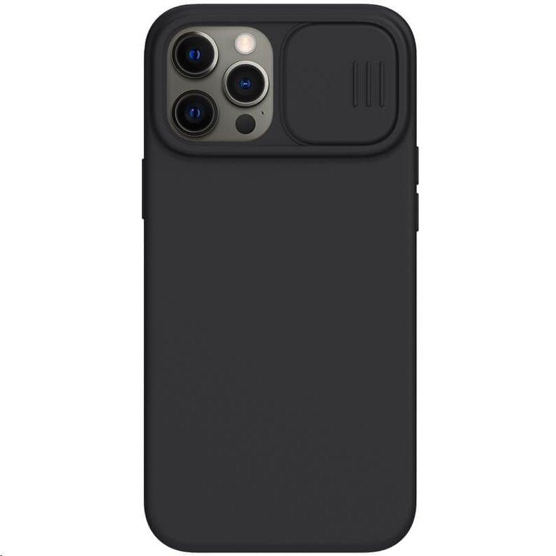 Silikonový kryt Nillkin CamShield Silky pro Apple iPhone 12 Pro Max, černá