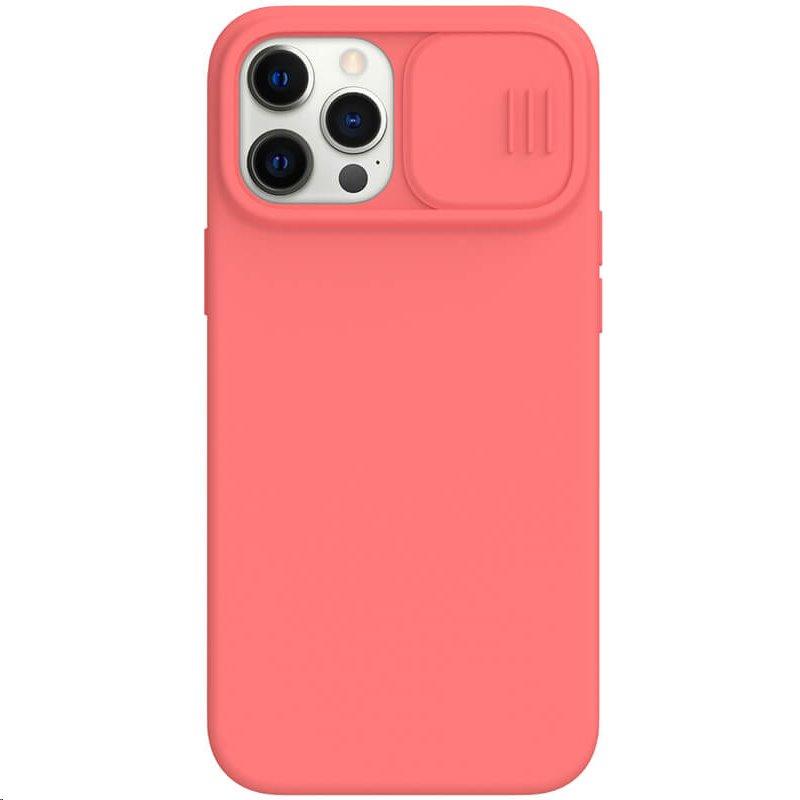 Silikonový kryt Nillkin CamShield Silky pro Apple iPhone 12/12 Pro, oranžová/růžová