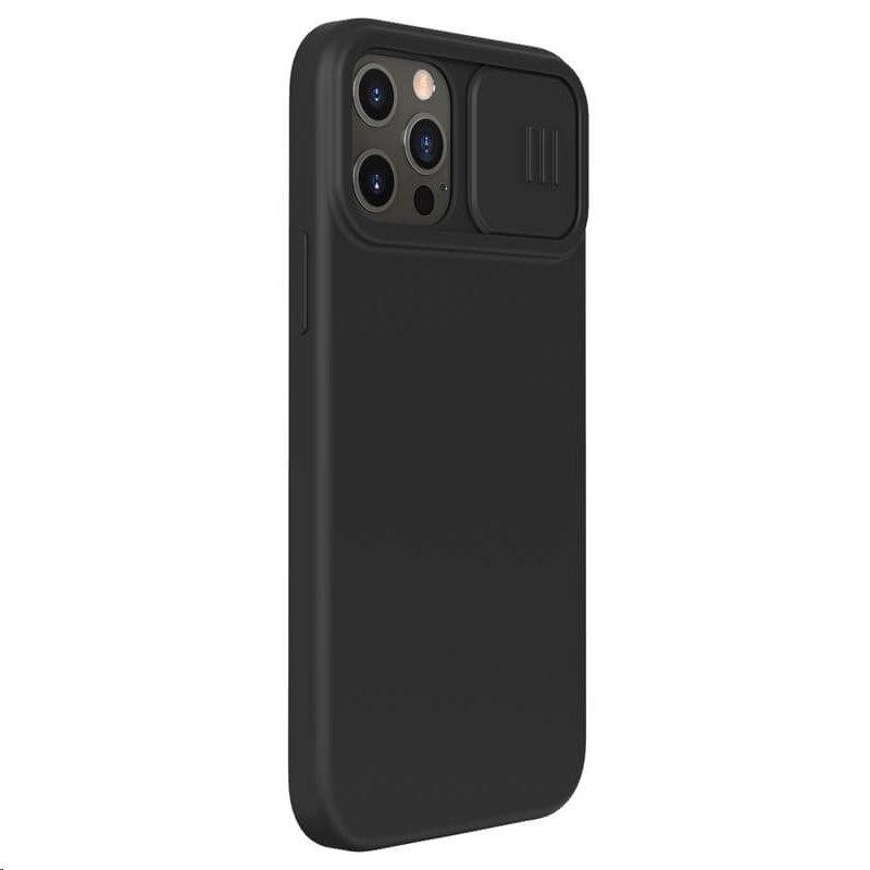 Silikonový kryt Nillkin CamShield Silky pro Apple iPhone 12/12 Pro, černá