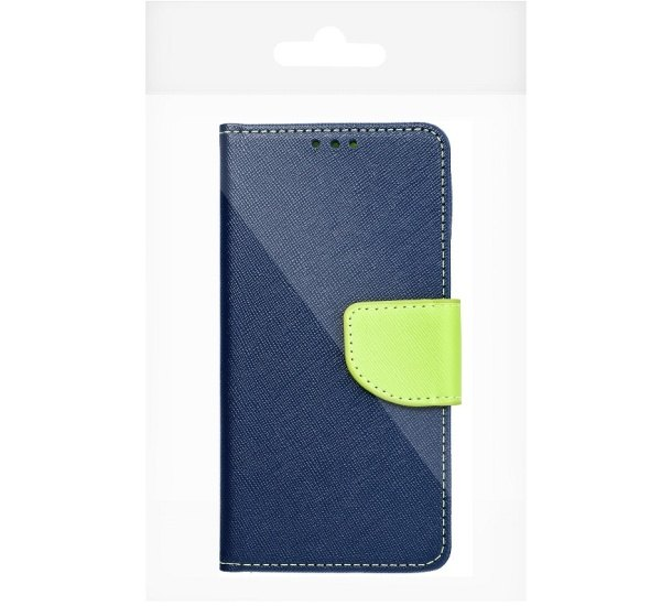 Pouzdro kniha Fancy pro Samsung Galaxy M12 (SM-M127) modro-limetková (BULK)