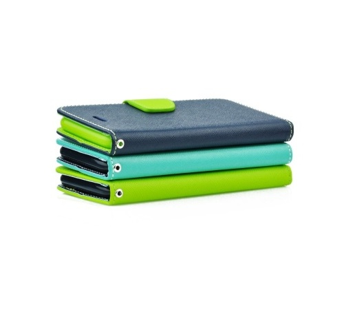 Pouzdro kniha Fancy pro Samsung Galaxy A42 5G (SM-A426) modro-limetková (BULK)