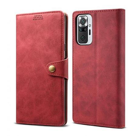 Lenuo Leather flipové pouzdro pro Xiaomi Mi Note 10 Pro, red
