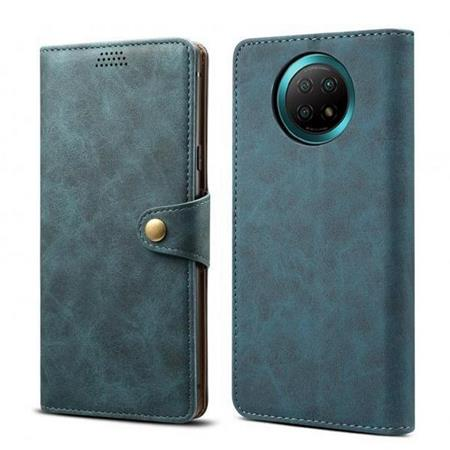 Lenuo Leather flipové pouzdro pro Xiaomi Redmi Note 9T, blue
