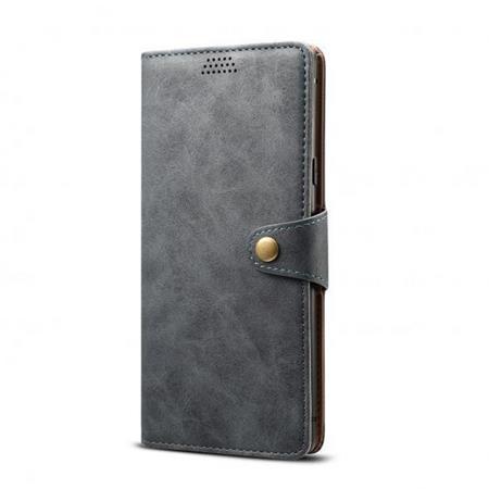 Lenuo Leather flipové pouzdro pro Samsung Galaxy M31s, grey