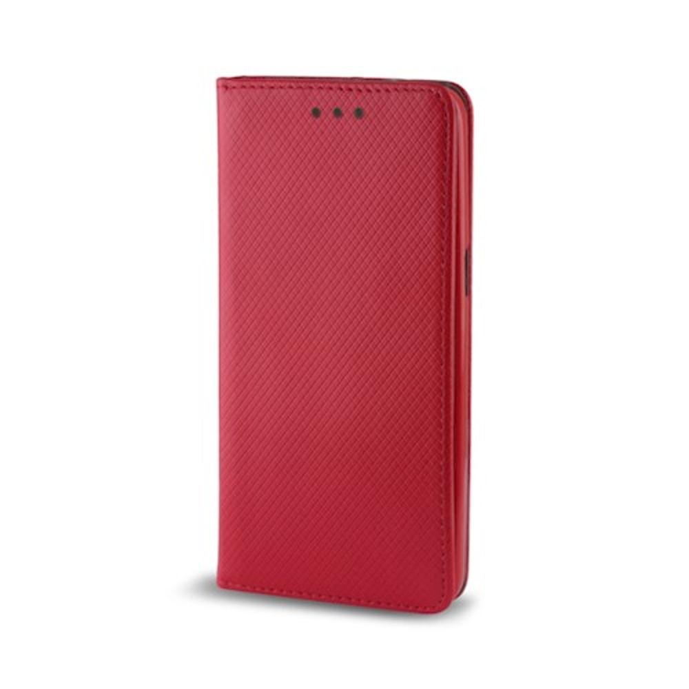 Cu-Be Smart Magnet flipové pouzdro pro Xiaomi Note 9T, red