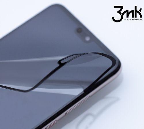 Hybridní sklo 3mk FlexibleGlass Max pro Samsung Galaxy A42 5G, černá