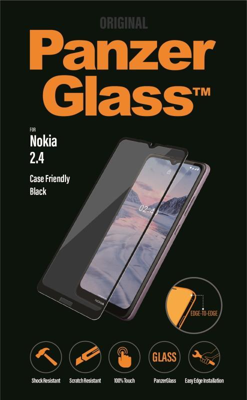 Ochranné sklo displeje PanzerGlass Edge to Edge pro Nokia 2.4, černá