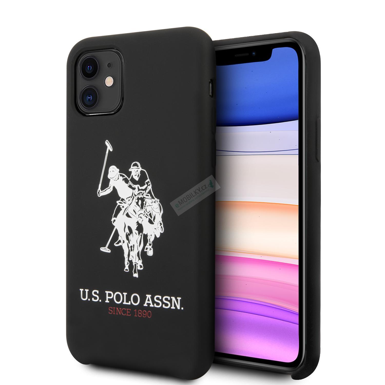 Silikonový kryt USHCS21MTPUHRBK U.S. Polo Double Horse pro Samsung Galaxy S21+, black