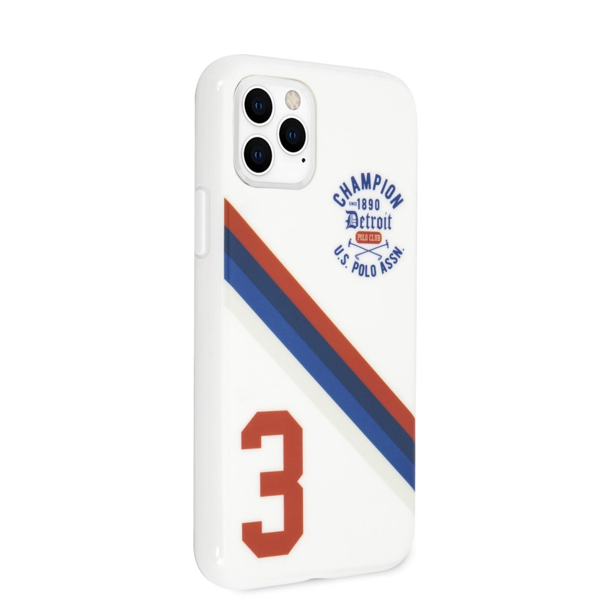Silikonový kryt USHCN61PCDGS U.S. Polo Hard Case Detroit 3 pro Apple iPhone 11, white