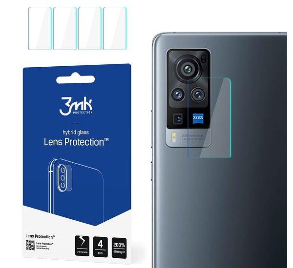 Hybridní sklo 3mk Lens ochrana kamery pro Vivo X60 Pro 5G, (4ks)