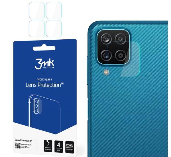 Hybridní sklo 3mk Lens ochrana kamery pro Samsung Galaxy M12, (4ks)