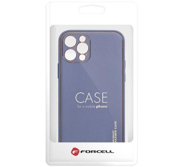 Ochranný kryt Forcell LEATHER pro Apple iPhone 12 Pro Max, modrá