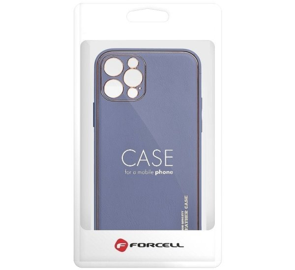 Ochranný kryt Forcell LEATHER pro Apple iPhone 12, modrá