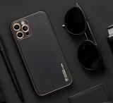 Ochranný kryt Forcell LEATHER pro Apple iPhone 12, černá